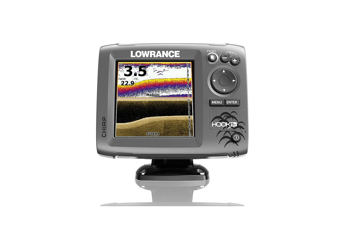 Lowrance HOOK 5x Mid High CHIRP ja DownScan 1