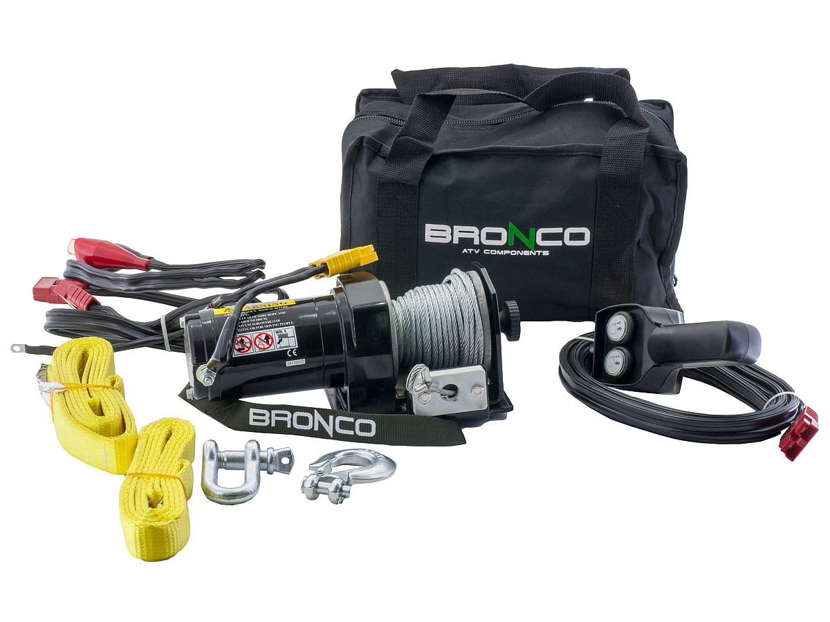 Bronco portable winch 2000 lbs 73 626