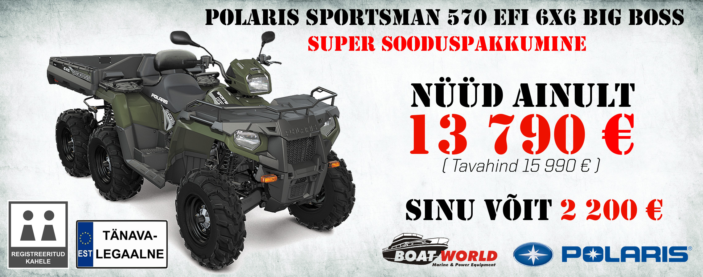 Polaris Sportsman 570 EPS EFI 6x6 Big Boss kampaania Background