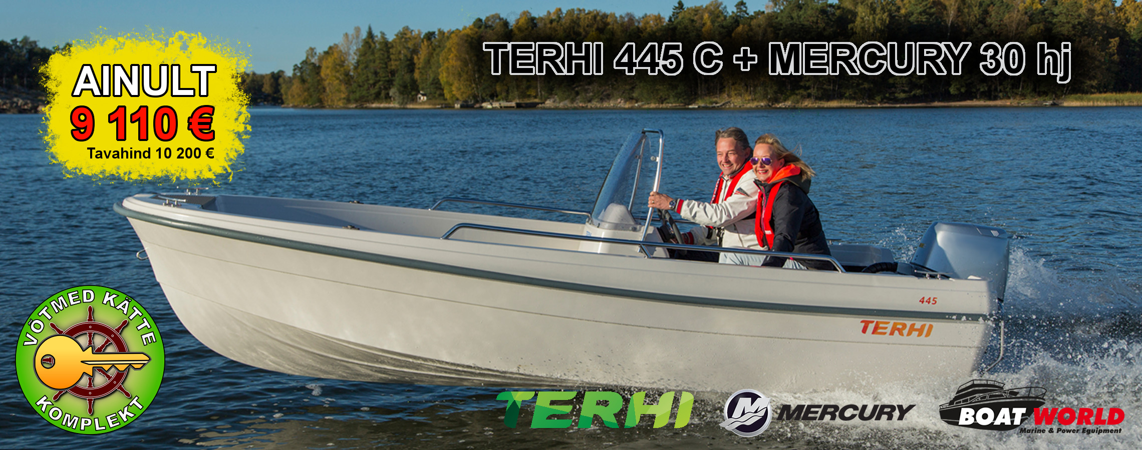 Terhi 445 C + Mercury F30ELPT EFI Background